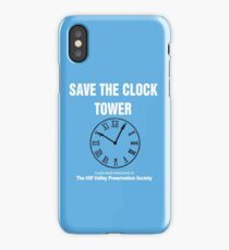 Save the Clock Tower (Back to the Future Print) iPhone Case