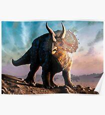 Triceratops Horridus Dinosaur Poster