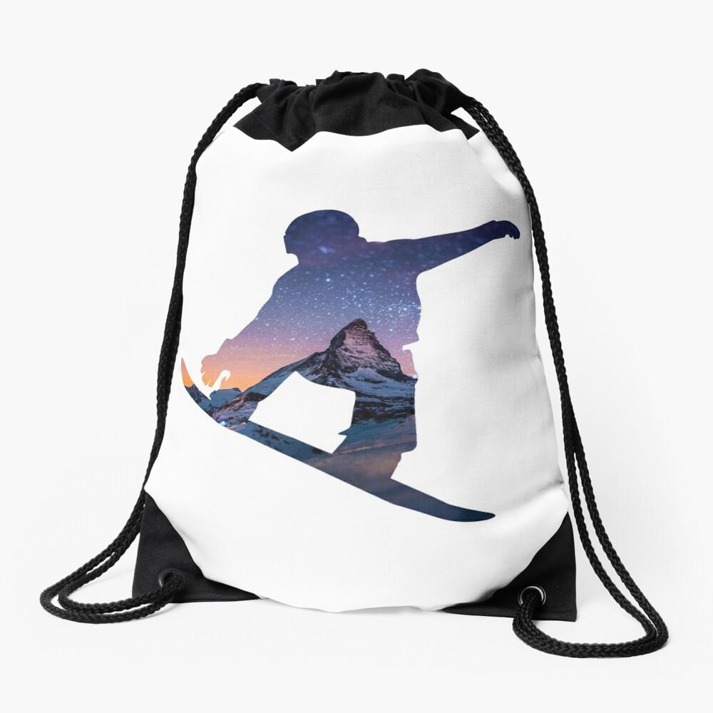Snowboard  Drawstring Bag