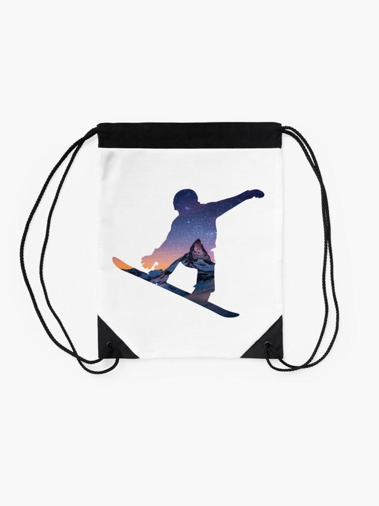 Alternate view of Snowboard  Drawstring Bag