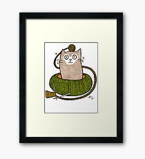 Knit One Purrl One Framed Print