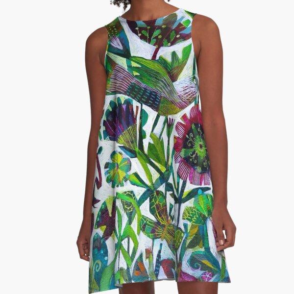 Birds and butterflies A-Line Dress