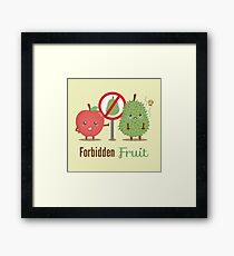 Durian is a Forbidden Fruit Pun Humor Framed Print