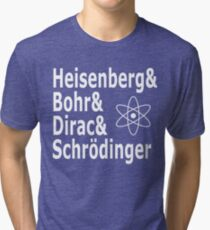 Funny Physics and Engineering Design with Quantum Physicists Tri-blend T-Shirt