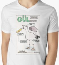 Seagull Assembly Instructions Men's V-Neck T-Shirt