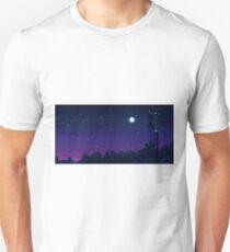 Pixel Art Night Sky Unisex T-Shirt