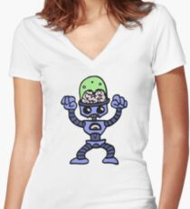 robot android funny Women's Fitted V-Neck T-Shirt