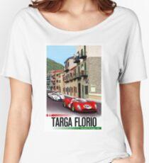 TARGA FLORIO; Vintage Grand Prix Auto Print Women's Relaxed Fit T-Shirt