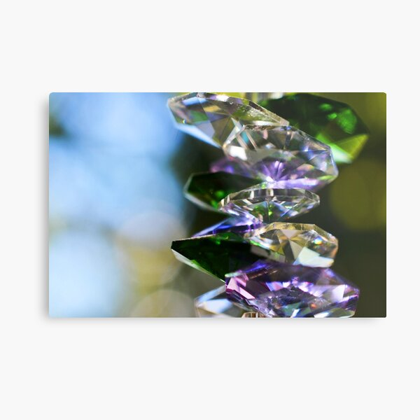 Hanging Crystals Metal Print