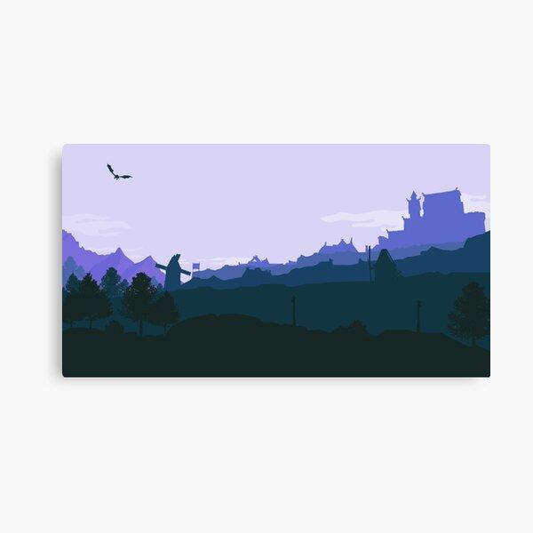 Whiterun Skyrim - Blue Canvas Print