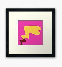 Female Pikachu Tail Framed Print