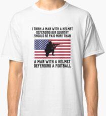 Respekt für Veteranen vor Fußballspieler Shirt Classic T-Shirt 52f3c3818d