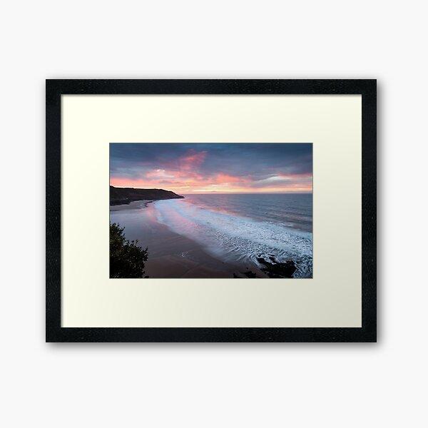 Caswell Bay sunrise Framed Art Print