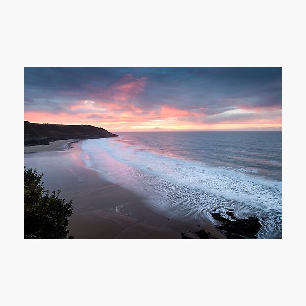 Caswell Bay sunrise Photographic Print