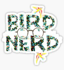 Bird Nerd Watcher Lovers Specs Glasses Geek  Sticker