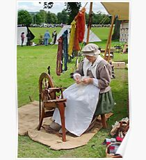 Re Enactment in Rhuthin North Wales UK Poster