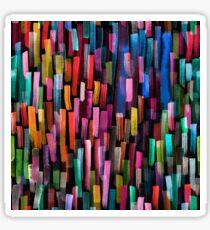 Multicolored watercolor stripes pattern Sticker
