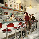 Cafe - The local hangout 1941 by Mike  Savad