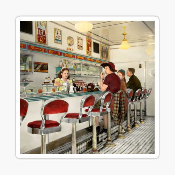 Cafe - The local hangout 1941 Sticker