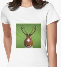 Where's the Reindeer? Women's Fitted T-Shirt