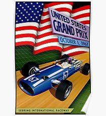 UNITED STATES GRAND PRIX: Auto Racing Print Poster