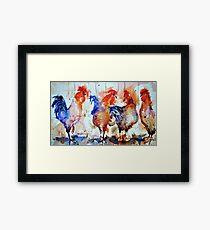 Four Cocks Framed Print