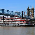 Belle of Cincinnati - Roebling Brige 2014 by Tony Wilder