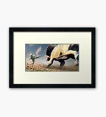 Confrontation - Tyrannosaurus Versus Triceratops Framed Print