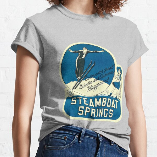 Steamboat Springs Colorado Ski Vintage Travel Decal Classic T-Shirt