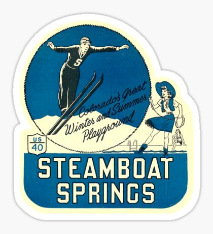 Steamboat Springs Colorado Ski Vintage Travel Decal Sticker