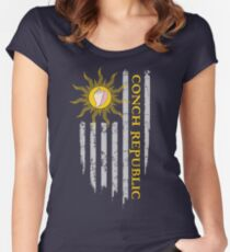 Key West Flag - Conch Republic Women's Fitted Scoop T-Shirt