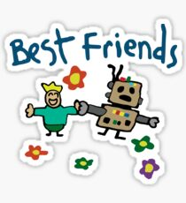 Butters + Awesom-O = Best Friends  Sticker