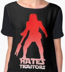 Hates Traitors Women's Chiffon Top