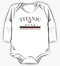 Titanic, 1912, RMS Titanic, Cruise, Ship, Disaster One Piece - Long Sleeve