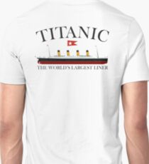 Titanic, 1912, RMS Titanic, Cruise, Ship, Disaster Unisex T-Shirt