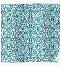 Floral Abstract Pattern G27 Poster