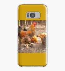 Young Rhode Island Red hens Samsung Galaxy Case/Skin