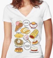 221b Bakery Street Women's Fitted V-Neck T-Shirt
