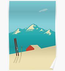 vintage mountains Poster