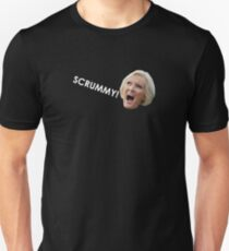 Scrummy (white on black) Unisex T-Shirt