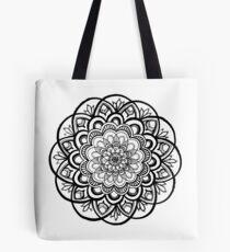 Dulce (Schwarz-Weiß-Mandala) Tote Bag