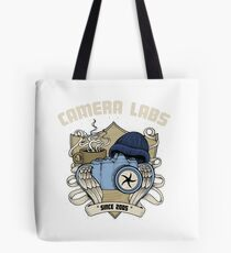 Cameralabs Photography Crest (Camera, Coffee, Beanie) Tote Bag