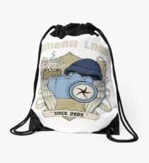 Cameralabs Photography Crest (Camera, Coffee, Beanie) Drawstring Bag