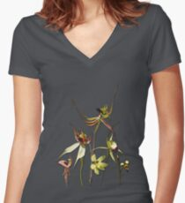 Orchids of Australia 4 Tee Women's Fitted V-Neck T-Shirt