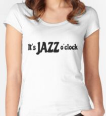 jazz music cool musician blues t shirts Women's Fitted Scoop T-Shirt