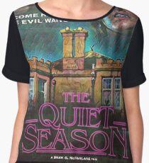 "Retro Film Poster ""The Quiet Season"" Chiffon Top"