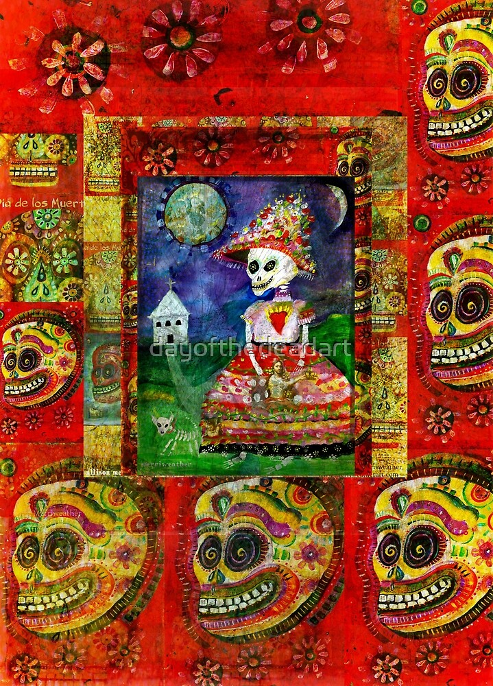 La Catrina -  Day of the Dead Inspired Art by dayofthedeadart