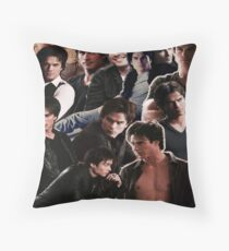 Damon Salvatore Collage Throw Pillow