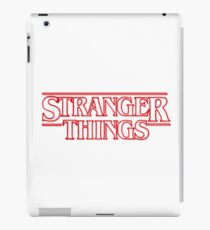 stranger things tv show horror t shirts iPad Case/Skin