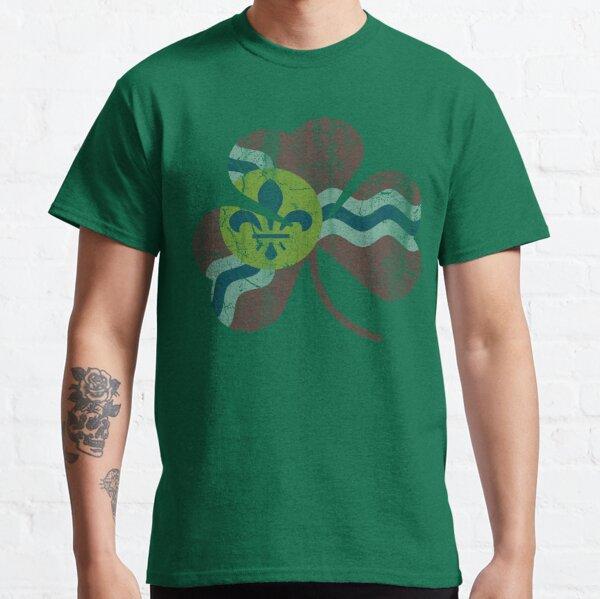Vintage Flag of St Louis Irish Shamrock Classic T-Shirt